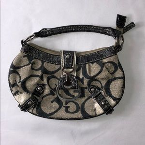 Small Black and Beige GUESS hand Purse